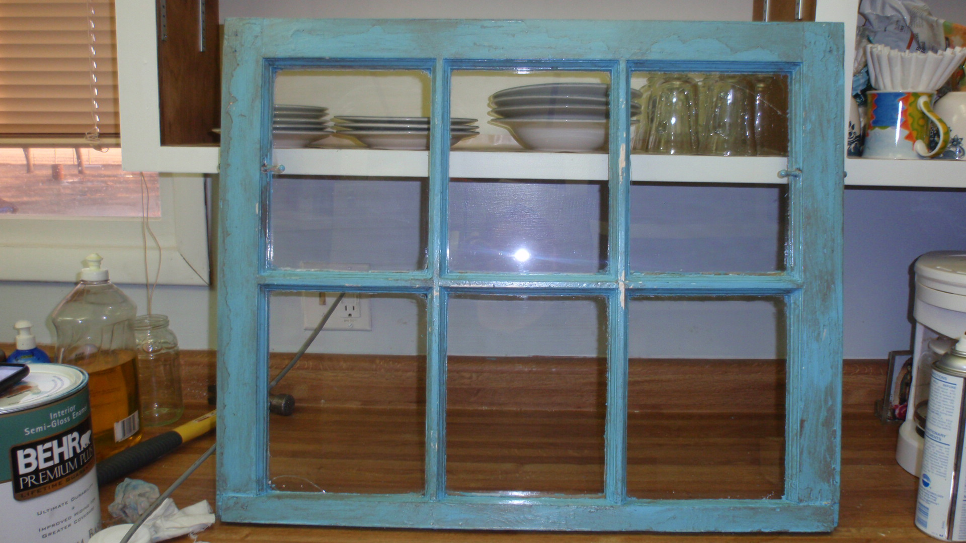 paint - Distressed Window Frame