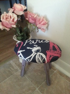 ***SOLD*** J'adore Paris Antique Milking Stool.