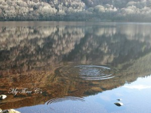 Ripples on Loch Ness. Loch Ness, Scotland