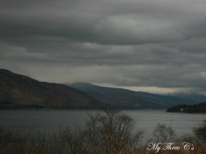No sign of Nessie on a gloomy day.  Loch Ness, Scotland