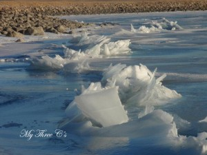 Ice formation on Nilan Reservoir, Augusta Montana