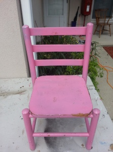 Before picture of the child size chair.